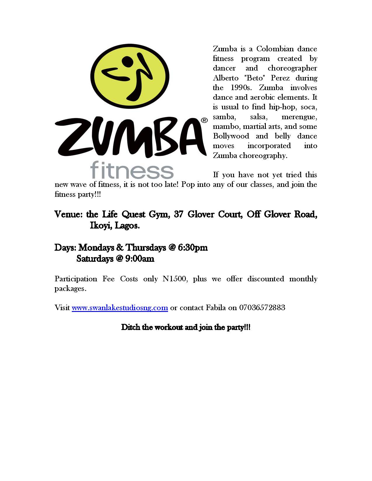 zumba ad Do you know what to include in your zumba instructor resume view hundreds of zumba instructor resume examples to learn the best format, verbs, and fonts to use.