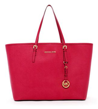 Michael Kors Jet Set Medium Travel Tote, Lacquered Pink_20120604171456