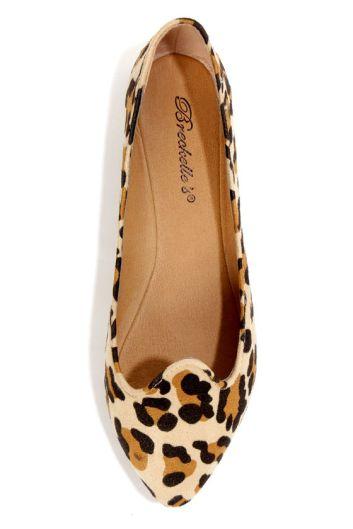 Lulus Velma Leopard Print Pointed Shoe